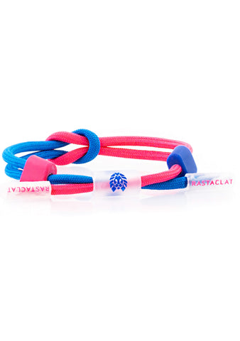 Translucid Carefree Mini Knotaclat Bracelet in Royal Pink