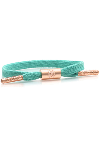 Brandy Women's Single Lace Bracelet in Turquoise/Rose Gold