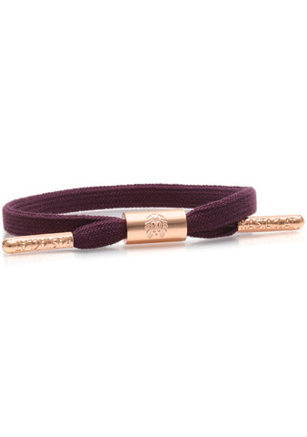 Rastaclat Erica Women's Single Lace Bracelet in Wine/Rose Gold