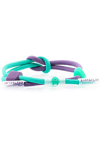 Translucid Compound Mist Mini Knotaclat Bracelet in Turquoise Purple