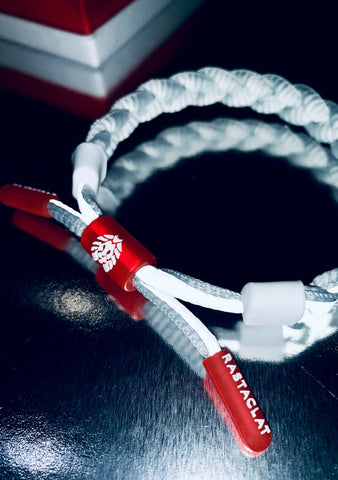 Rastaclat Grey Matter Bracelet Clat in Grey Red