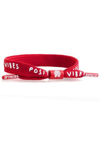 Rastaclat Positive Vibes Bracelet in Dark Red