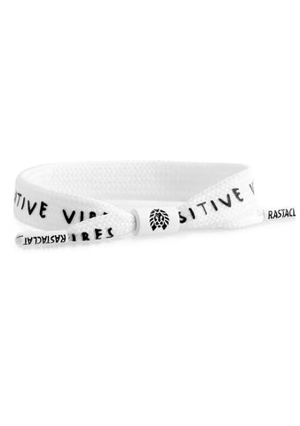 Positive Vibes Bracelet in White/Black