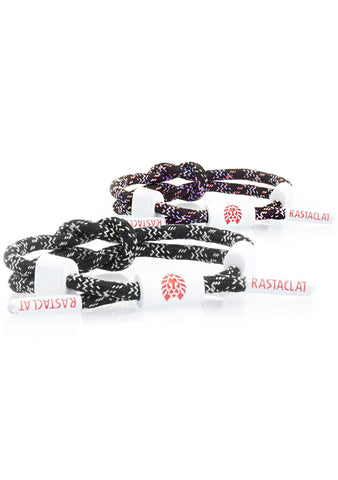 Tropical Glitch Dark Net Miniknot in Black/White