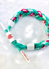 Tropical Glitch Rip Current Miniclat Bracelet in Turquoise/Pink