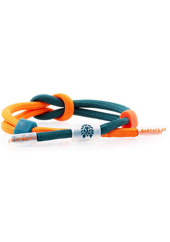 Translucid Visual Aid Classic Knotaclat Bracelet in Green Blue Orange