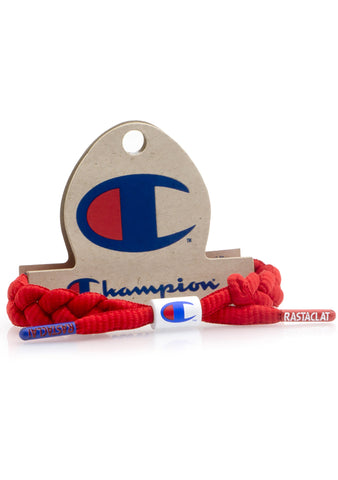 Rastaclat X Champion Bracelet in Red