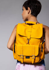 Chelsea City Backpack in Mustard Yellow