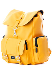 Chelsea City Backpack in Mustard Yellow by Spiral