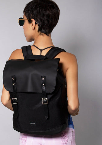 SOHO Blackout Backpack in Black
