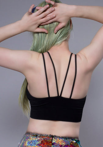 Seams Lovely Sasha Bralette in Black