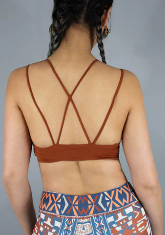 Vienna Bralette in Rust