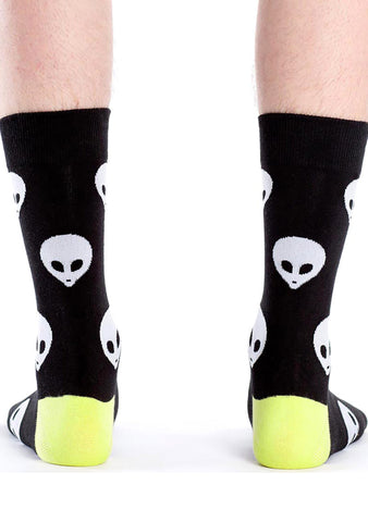 Sock It To Me Alien Crew Socks for Men