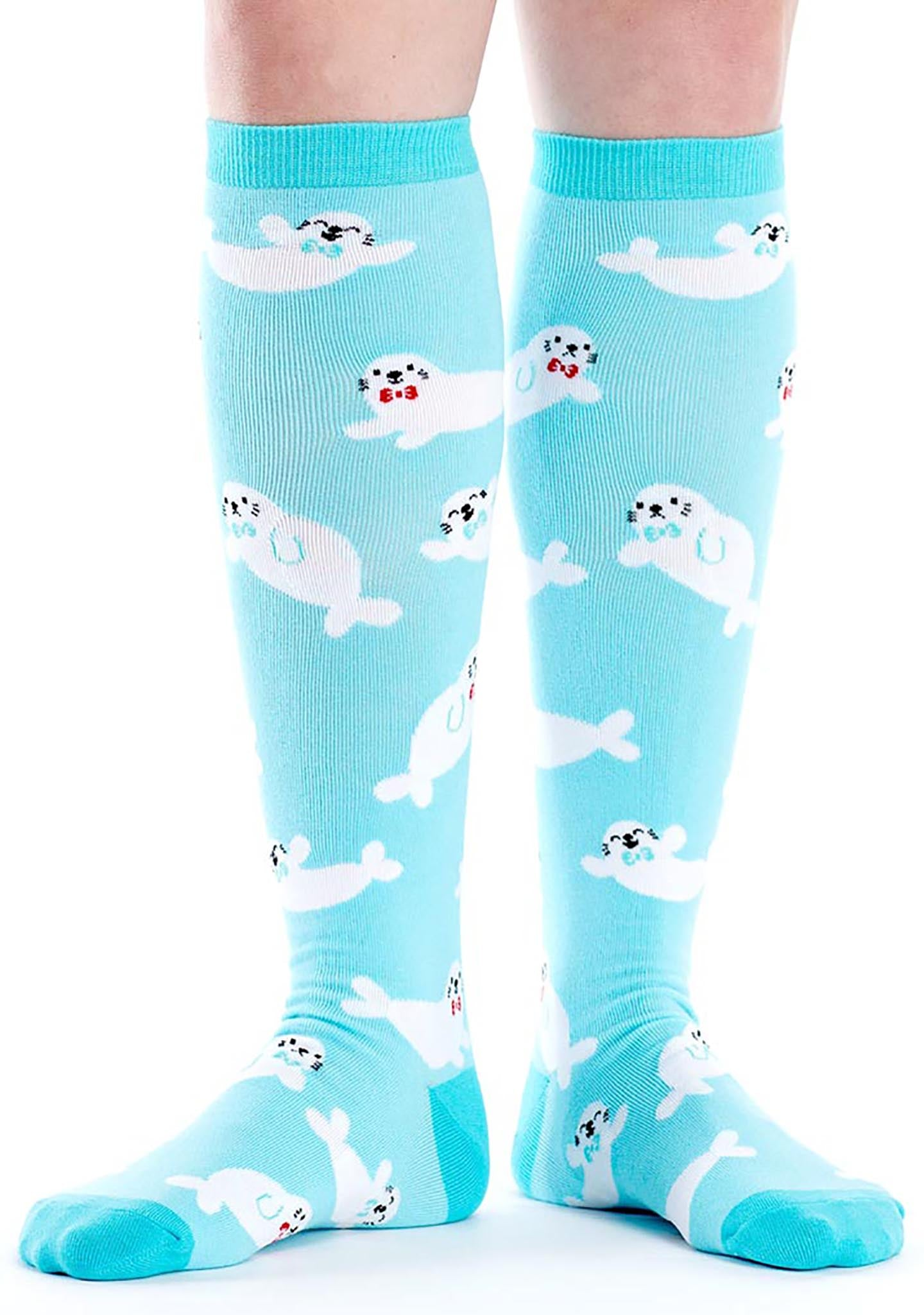 Sock It To Me Baby Seals Knee High Socks