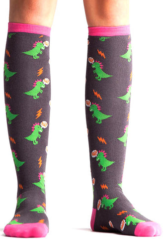 Sock It To Me Dinomite Knee High Socks