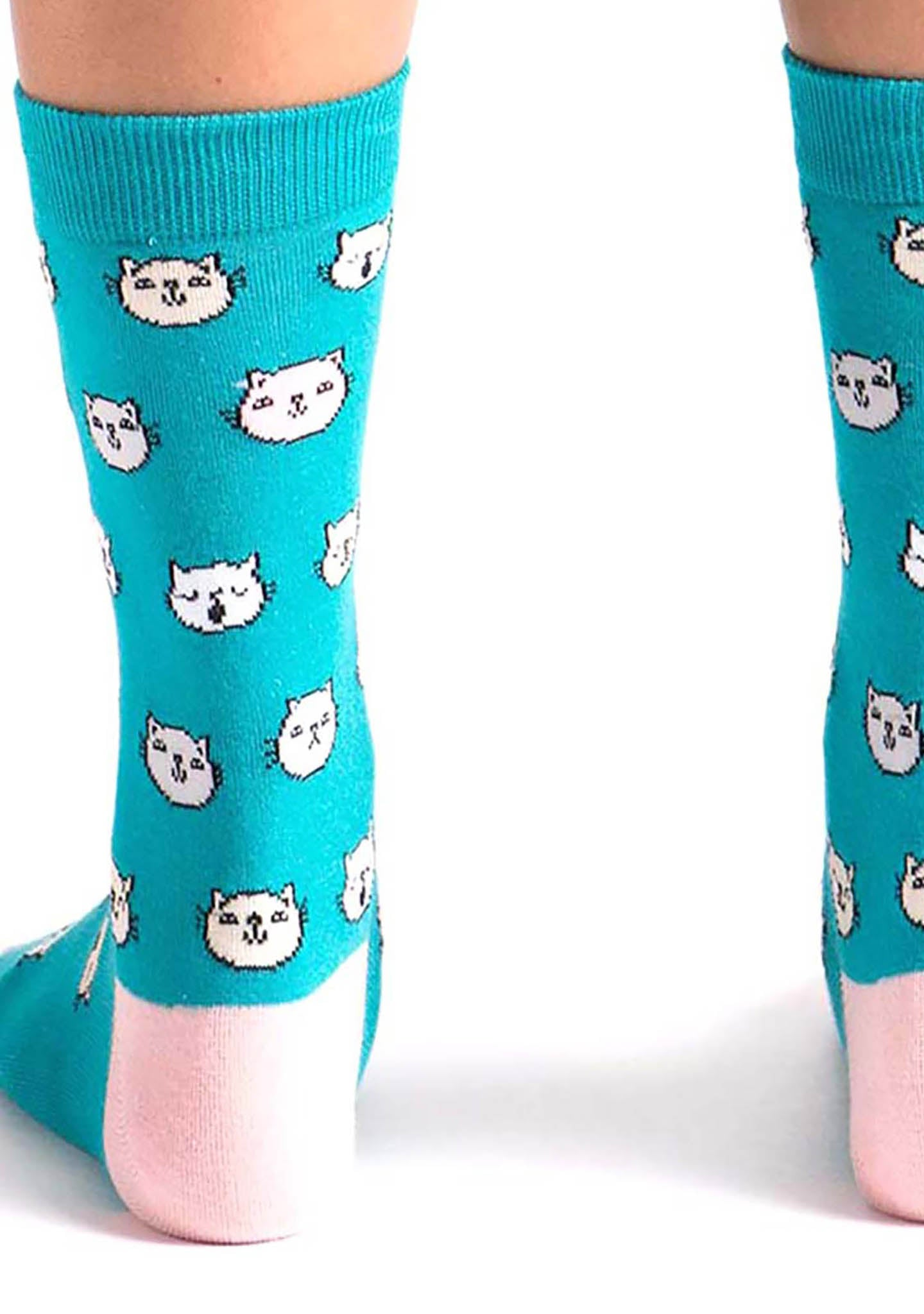 Sock It To Me Feline Fine Crew Socks