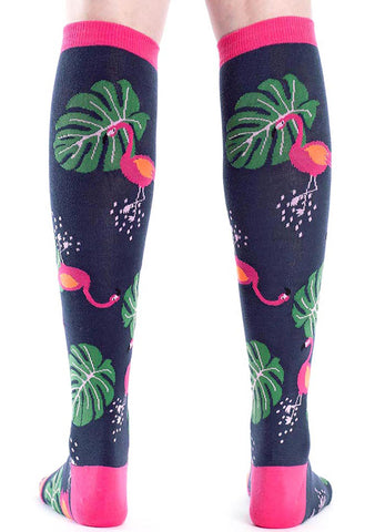 Sock It To Me Flamingo Knee High Socks
