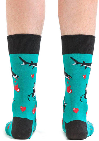 Sock It To Me Love Bites Crew Socks for Men