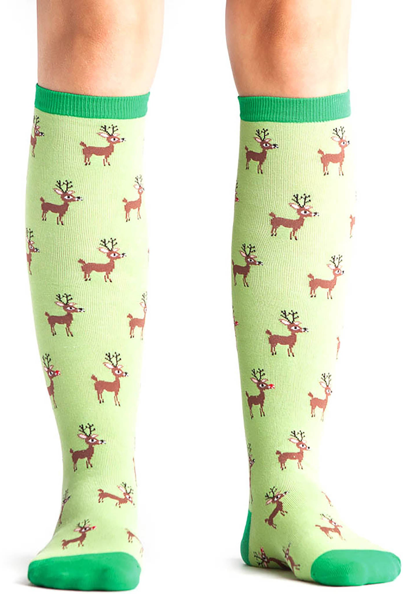 Sock It To Me Reindeer Games Knee High Socks