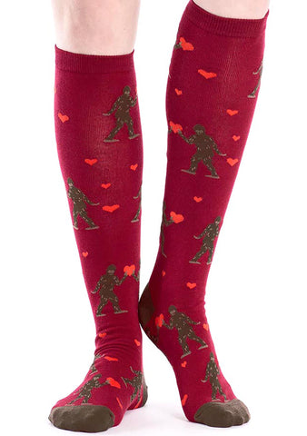 Sock It To Me Sasquatch Valentine Knee High Socks