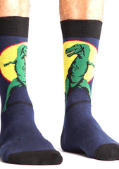 Sock It To Me T-Rex Crew Socks for Men