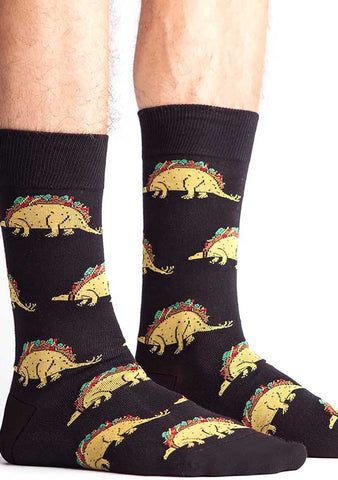 Sock It To Me Tacosaurus Crew Socks for Men
