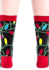 Sock It To Me Tangled Lights Crew Socks for Women