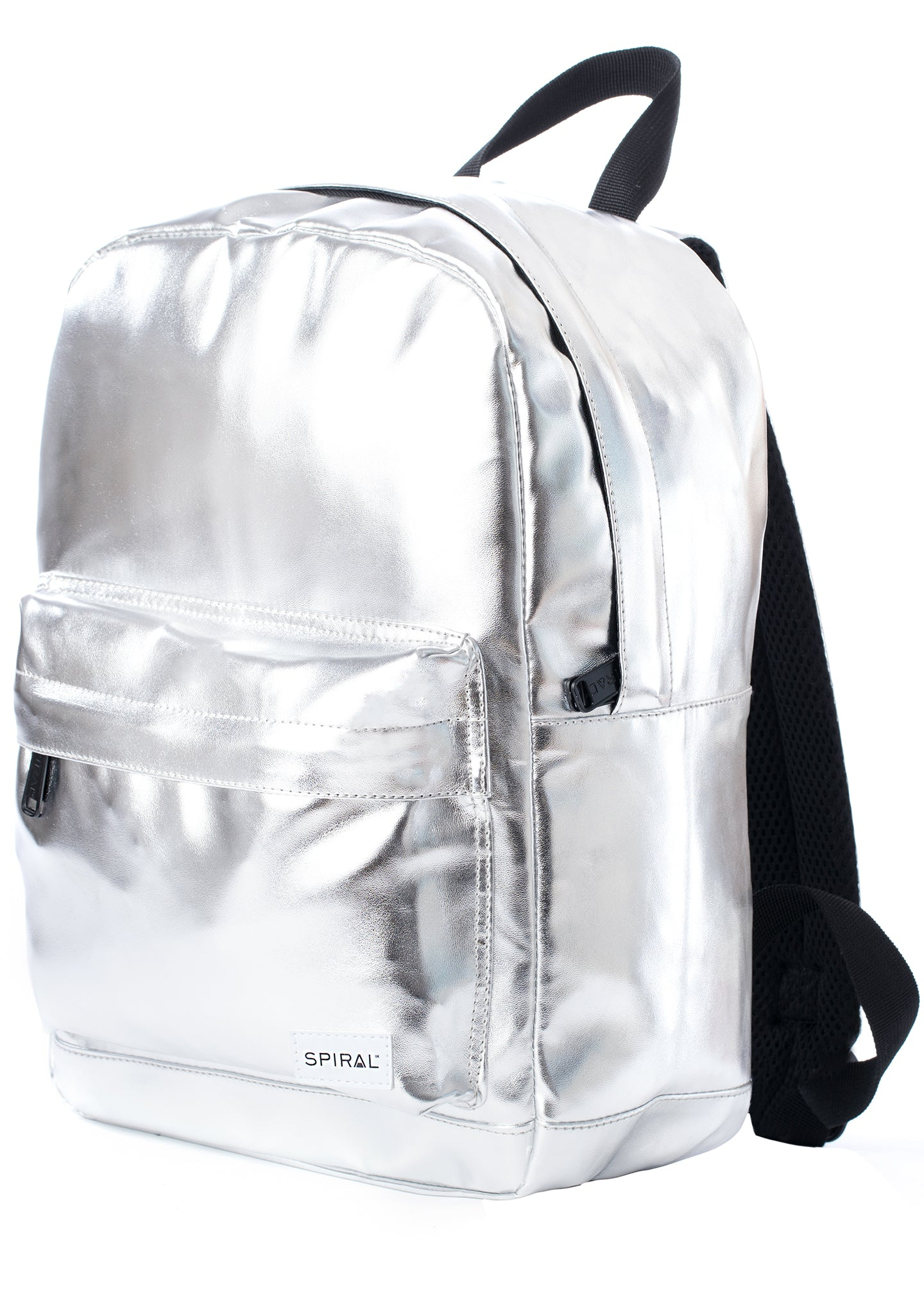 Steel Eclipse Festival Backpack in Metallic Silver