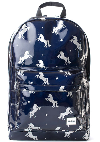 OG Shiny Unicorn Backpack in Midnight Blue