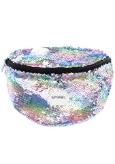Pastel Rainbow Sherbert Sequins Bum Bag