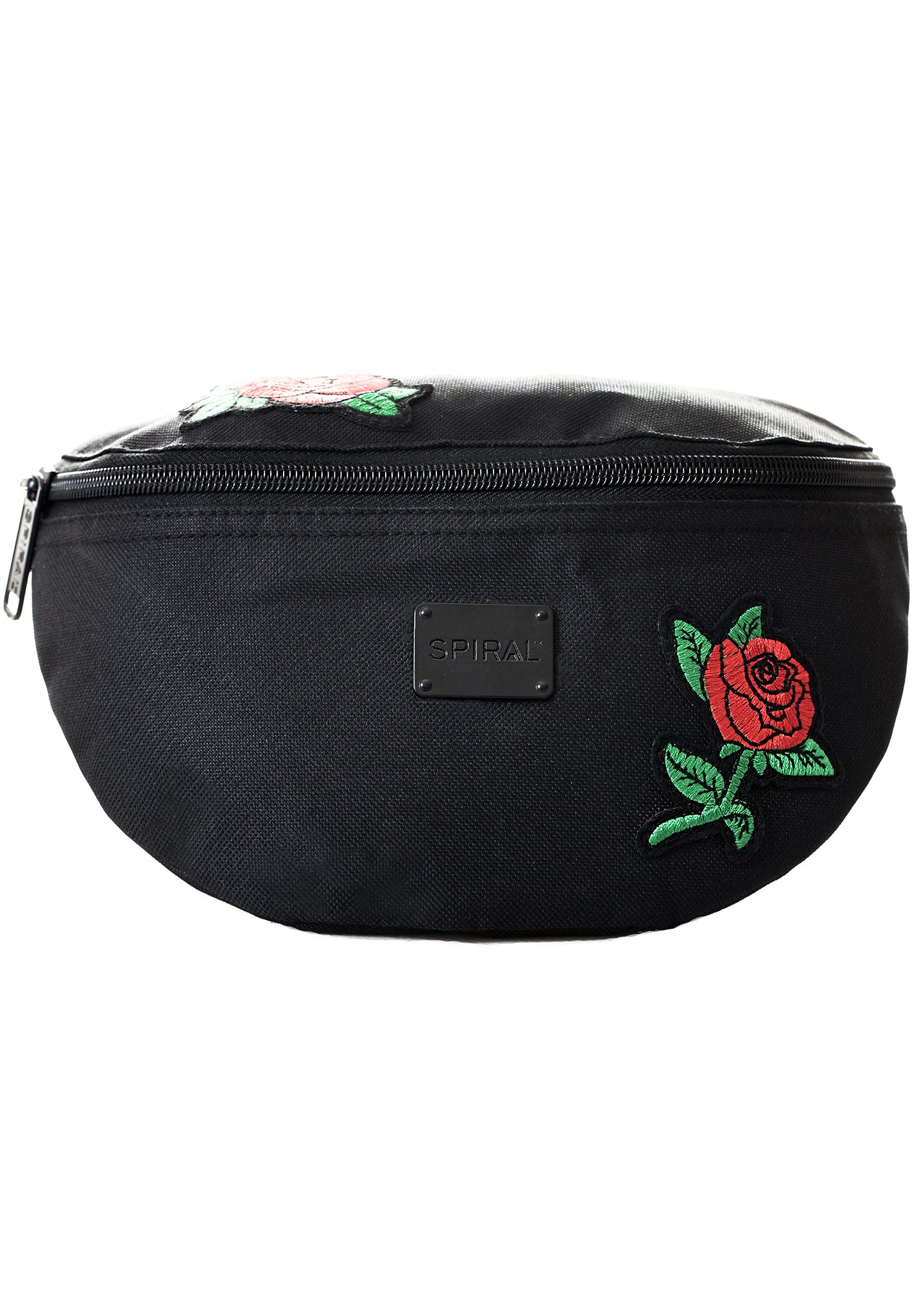 Forbidden Rose Patches Bum Bag in Midnight Black