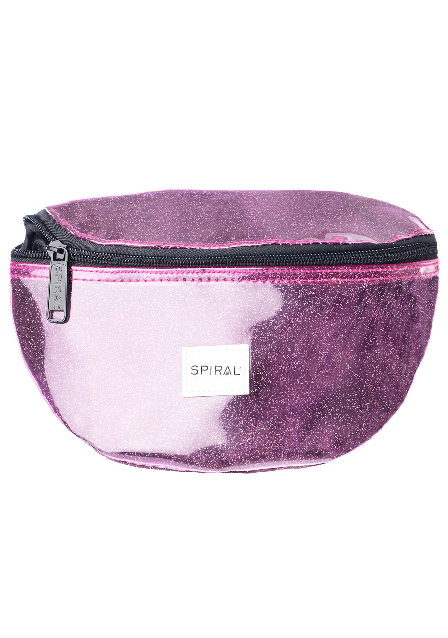 See Thru Sparkle Bum Bag in Purple