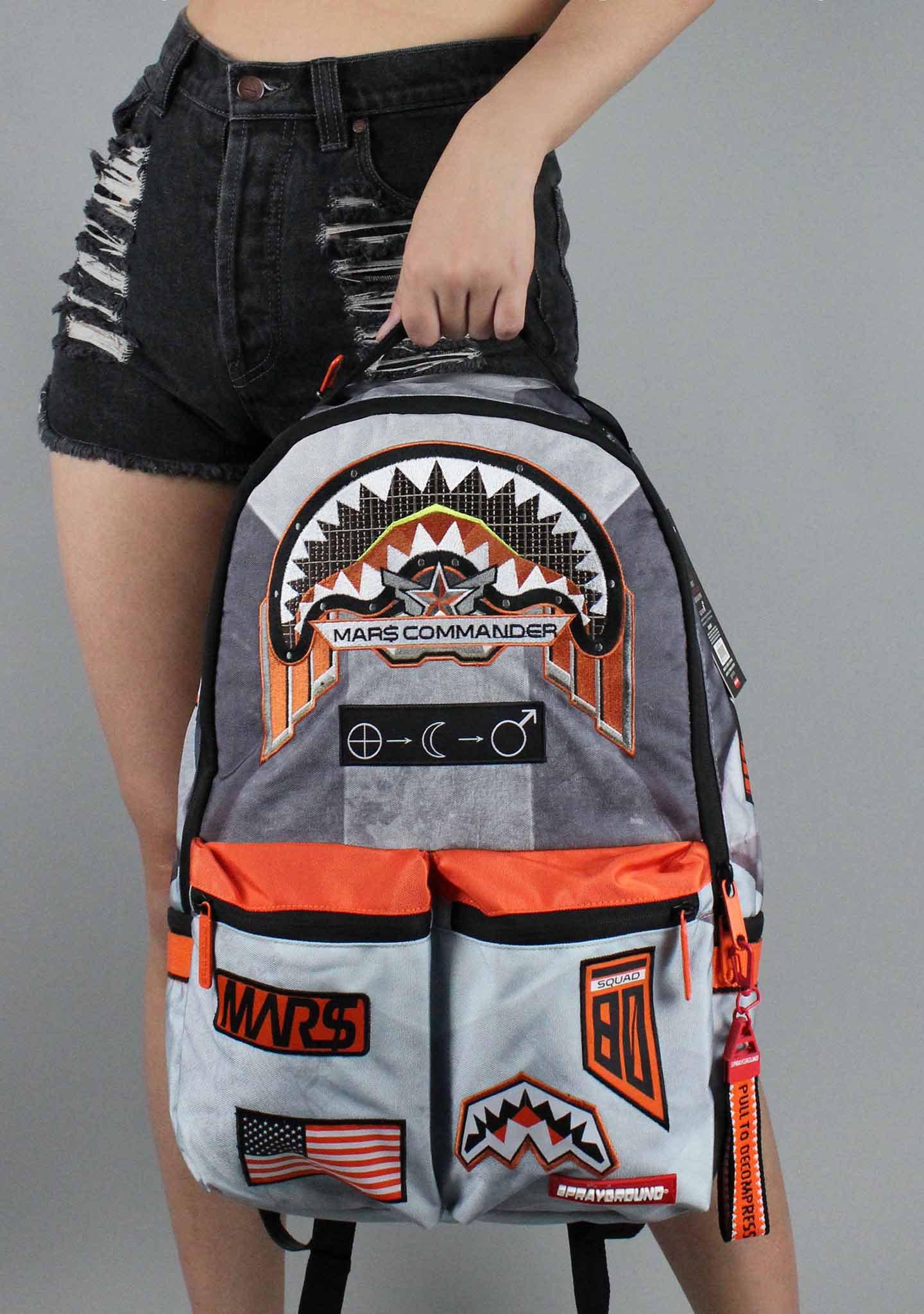 X Buzz Aldrin Mi$$ion To Mars: Shark Patches Backpack