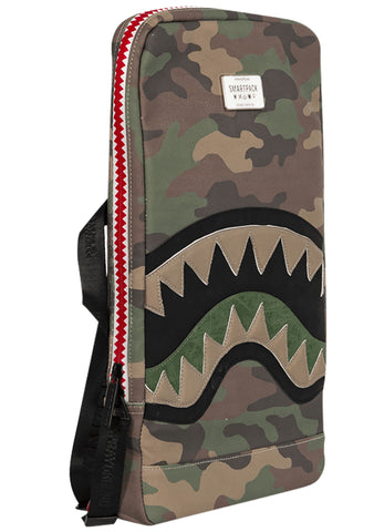 Cut & Sew Shark Smart Backpack in Green/Brown Camo
