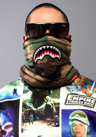 SPRAYGROUND Camo Shark Mouth Neck Warmer