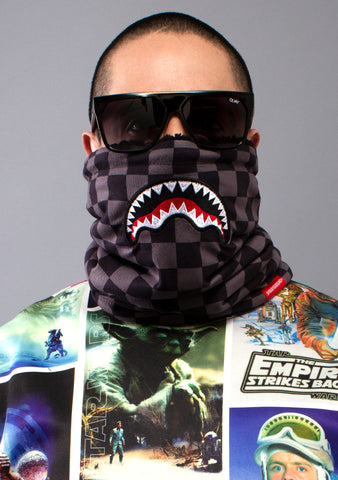 SPRAYGROUND Checkered Shark Neck Warmer