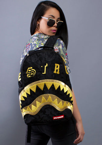 SPRAYGROUND Destroy Shark Gold Camo Backpack