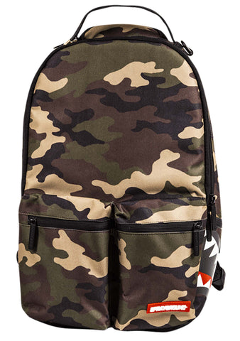 Double Cargo Side Shark Backpack in Camo