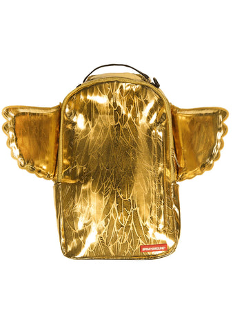 King Midas Wing Backpack in Gold