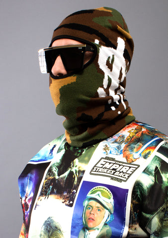 SPRAYGROUND Camo Money Drip Ski Mask