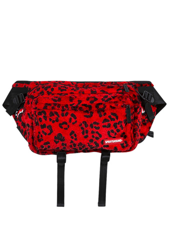 Red Leopard Transporter Crossbody Waist Bag Fanny Pack