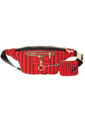 Reverse Sharks In Paris Crossbody in Red