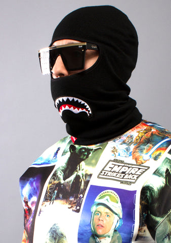 SPRAYGROUND Shark Mouth Ski Mask in Black