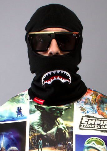 Shark Mouth Ski Mask in Black