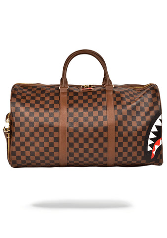 Sharks in Paris Duffle Bag in Brown