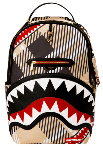 Sharks in London Backpack in Brown/Beige