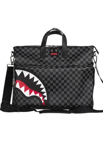 Sharks In Paris Travel Case in Black Checker