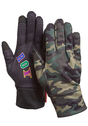 SPRAYGROUND Split Destroy Gloves Sizes L and XL in Camo/Black