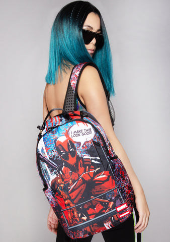 X Marvel Deadpool Painting Backpack