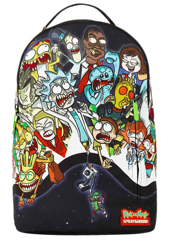 X Rick and Morty Portal Party Shark Backpack